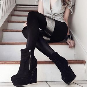 Call it Spring wedge booties size 8